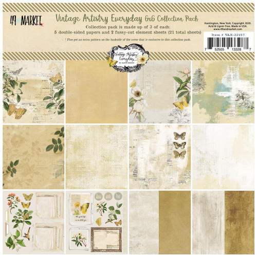 49 and Market Vintage Artistry 6x6 Paper Pad: Everyday