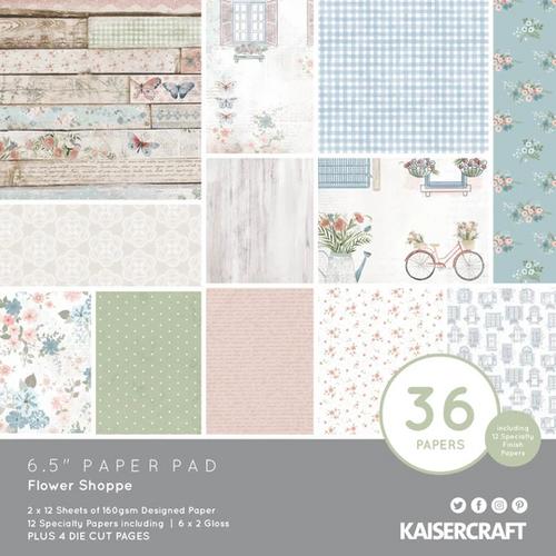 KaiserCraft Flower Shoppe 6.5x6.5 Paper Pad (w/diecuts)