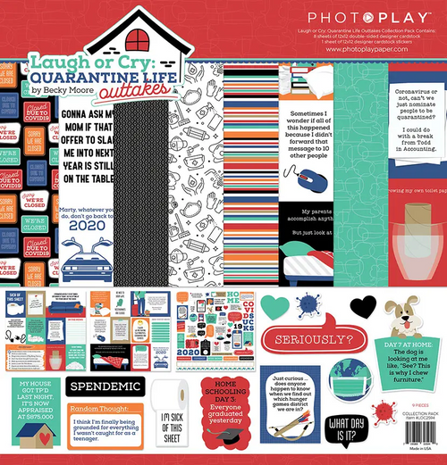 PhotoPlay Laugh or Cry: Quarantine Life Outakes 12x12 Collection Pack