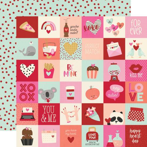 Simple Stories Sweet Talk 12x12 Paper: 2x2 Elements