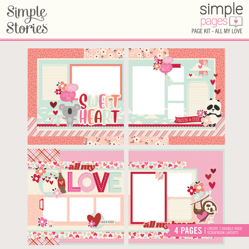 Simple Stories Sweet Talk Simple Pages Page Kit: All My Love