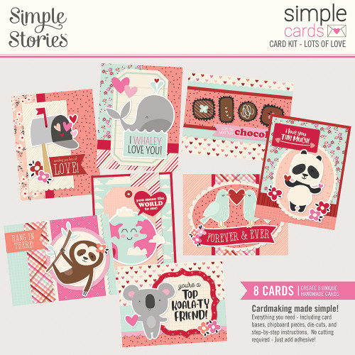 Simple Stories Sweet Talk Simple Cards Card Kit: Lots of Love