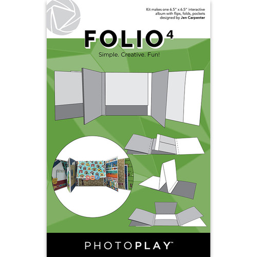"PhotoPlay Maker's Series Creation Bases | Folio 4 - 6.5""x 6.5"" (White)"