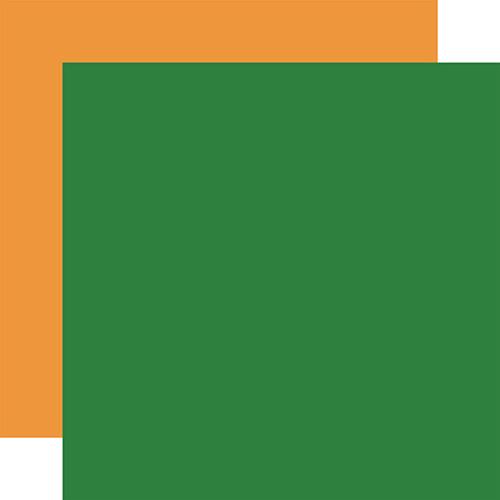 Carta Bella Let's Celebrate 12x12 Paper: Green / Orange (Coordinating Solid)