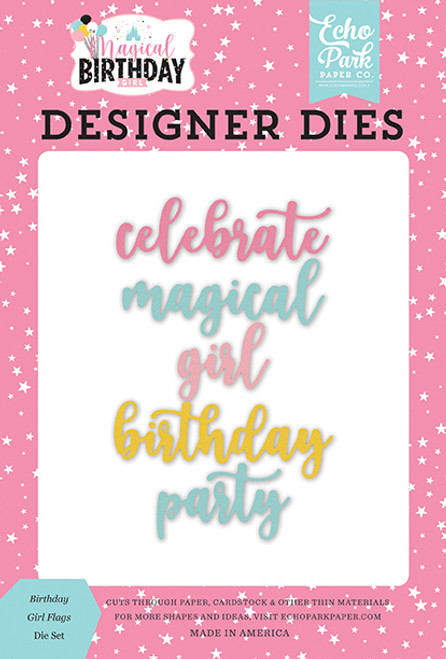 Echo Park Magical Birthday Girl Word Die Set