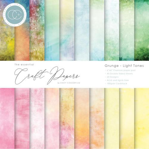 Craft Consortium 6x6 Paper Pad: Grunge - Light Tones
