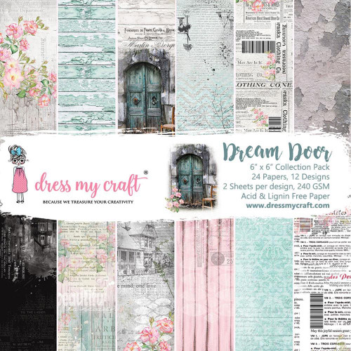 Dress My Craft 6x6 Paper Pad: Dream Door