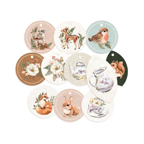 P13 Forest Tea Party Decorative Tags: Set 1