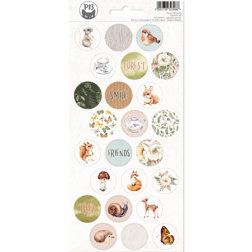 P13 Forest Tea Party Stickers: 03