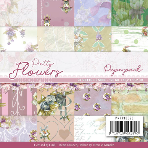 Find-It Media 6x6 Paper Pad: Pretty Flowers