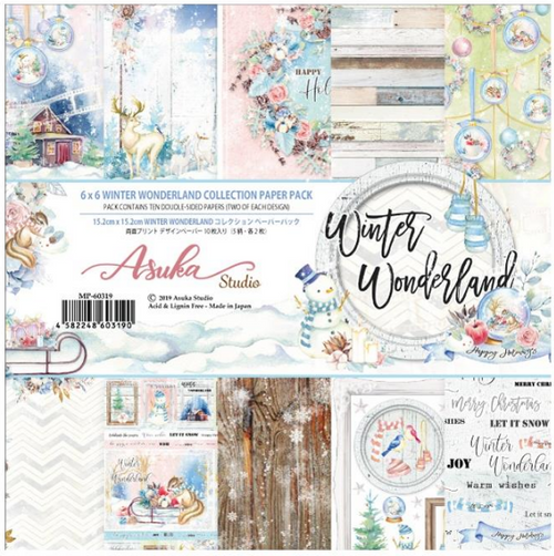 Asuka Studio 6x6 Paper Pad: Winter Wonderland