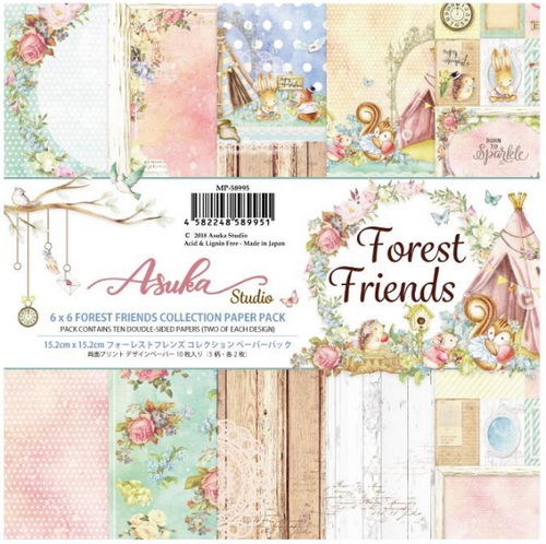 Asuka Studio 6x6 Paper Pad: Forest Friends