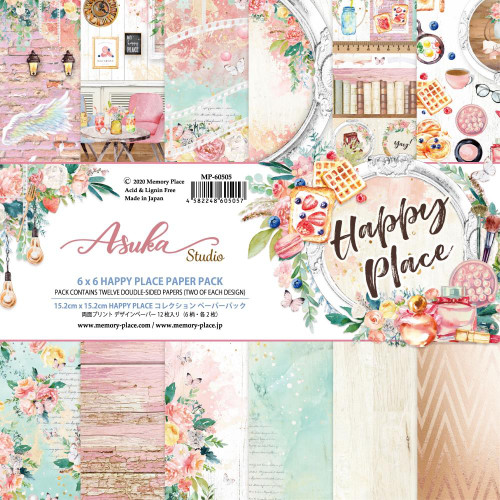 Asuka Studio 6x6 Paper Pad: Happy Place