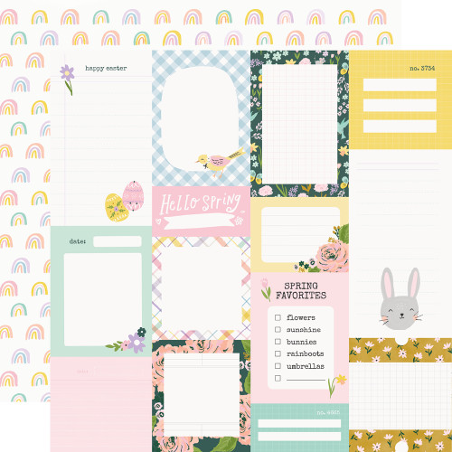 *PREORDER* Simple Stories Bunnies + Blooms 12x12 Paper: Journal Elements