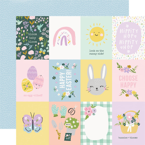 *PREORDER* Simple Stories Bunnies + Blooms 12x12 Paper: 3x4 Elements
