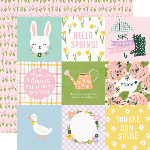 *PREORDER* Simple Stories Bunnies + Blooms 12x12 Paper: 4x4 Elements