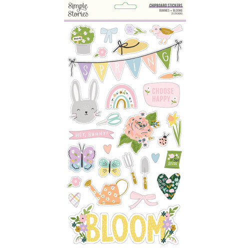 *PREORDER* Simple Stories Bunnies + Blooms 6x12 Chipboard