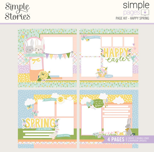 "Simple Stories ""Simple Pages"" Page Kit: Happy Spring"