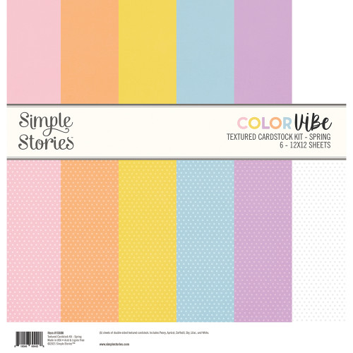 Simple Stories Color Vibe Textured Cardstock Kit: Spring