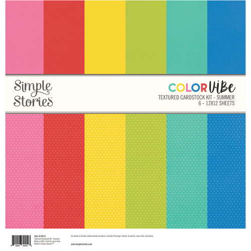 Simple Stories Color Vibe Textured Cardstock Kit: Summer