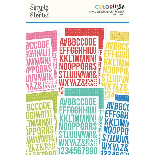 Simple Stories Color Vibe Alphabet Sticker Book: Summer