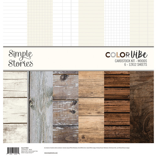 Simple Stories Color Vibe Cardstock Kit: Woods