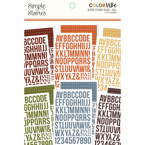 Simple Stories Color Vibe Alphabet Sticker Book: Fall