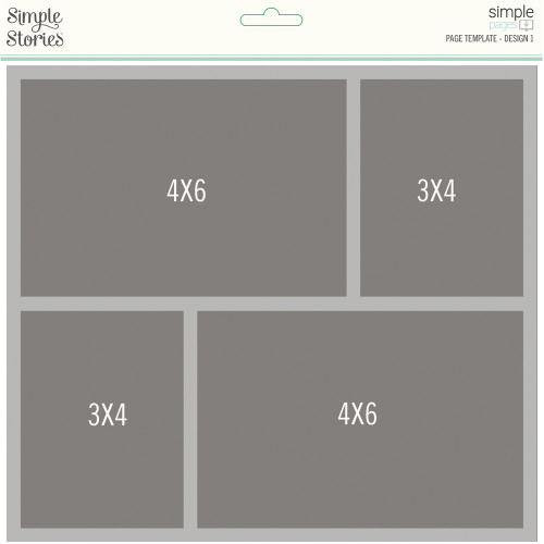 "*PREORDER* Simple Stories ""Simple Pages"" Page Template: Design 1"