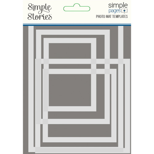 "*PREORDER* Simple Stories ""Simple Pages"" Photo Mat Templates"