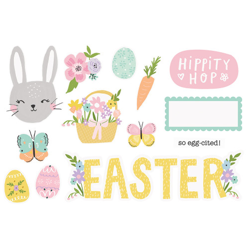 """*PREORDER* Simple Stories """"Simple Pages"""" Page Pieces: Easter"""