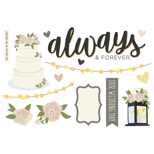 """Simple Stories """"Simple Pages"""" Page Pieces: Wedding"""