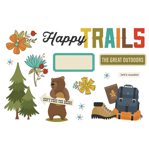 """Simple Stories """"Simple Pages"""" Page Pieces: Happy Trails"""