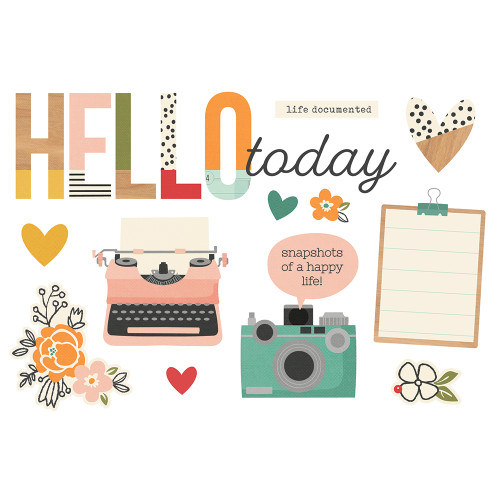 """*PREORDER* Simple Stories """"Simple Pages"""" Page Pieces: Hello Today"""