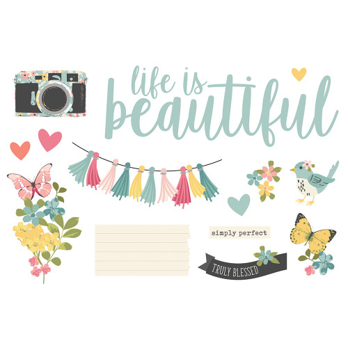 """Simple Stories """"Simple Pages"""" Page Pieces: Life is Beautiful"""
