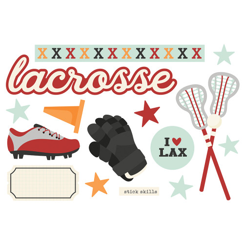 """*PREORDER* Simple Stories """"Simple Pages"""" Page Pieces: Lacrosse"""