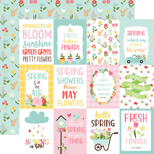 Echo Park Welcome Spring 12x12 Paper: 3x4 Journaling Cards