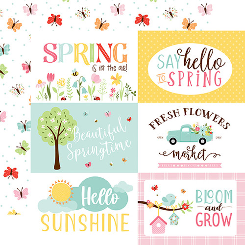Echo Park Welcome Spring 12x12 Paper: 6x4 Jouranling Cards