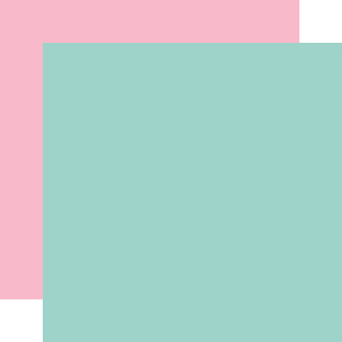 Echo Park Welcome Easter 12x12 Paper: Teal/Pink (Coordinating Solid)
