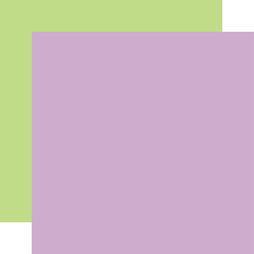 Echo Park Welcome Easter 12x12 Paper: Purple/Green (Coordinating Solid)