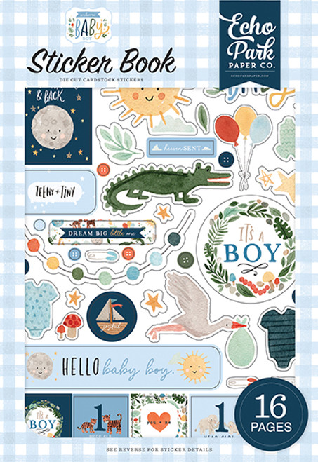 Echo Park Welcome Baby Boy Sticker Book