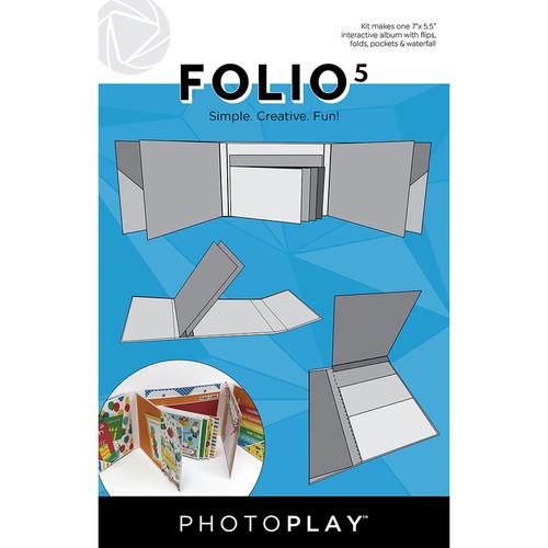 "PhotoPlay Maker's Series Creation Bases | Folio 5 - 7""x 5.5"" (White)"