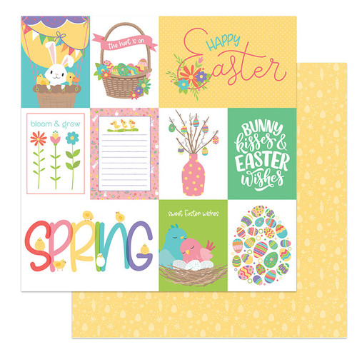 PhotoPlay Baskets of Bunnies 12x12 Paper: Easter Wishes