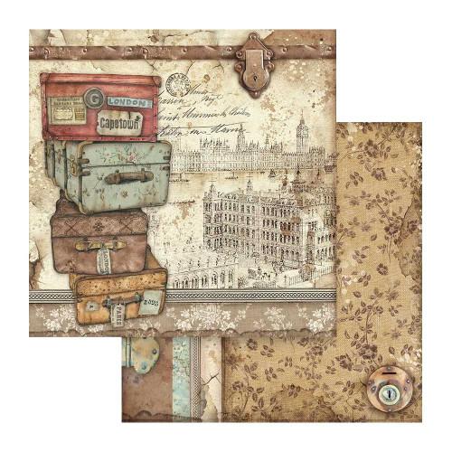 Stamperia Lady Vagabond 12x12 Paper: Suitcases