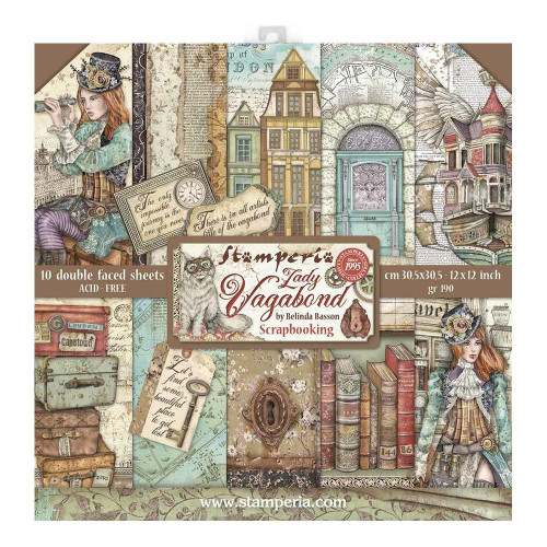 Stamperia Lady Vagabond 12x12 Paper Pack