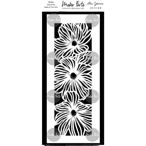 Maker Forte 3.5x8.5 Stencil: Flower Trio