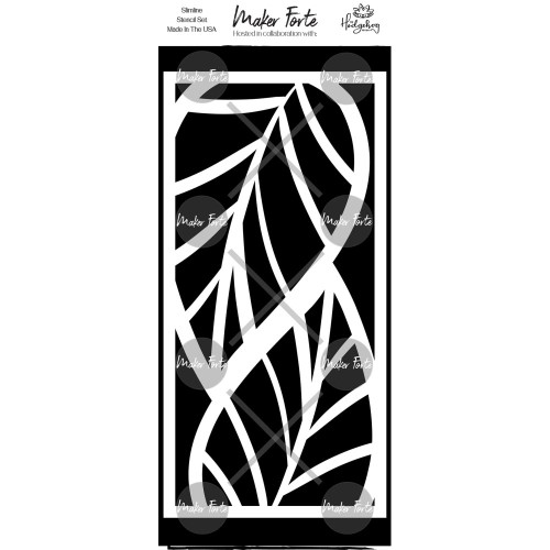 Maker Forte 4x8.5 Stencil: Interlocking Leaves