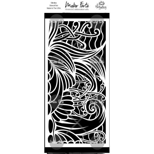 Maker Forte 4x8.5 Slimline Stencil: Seashore
