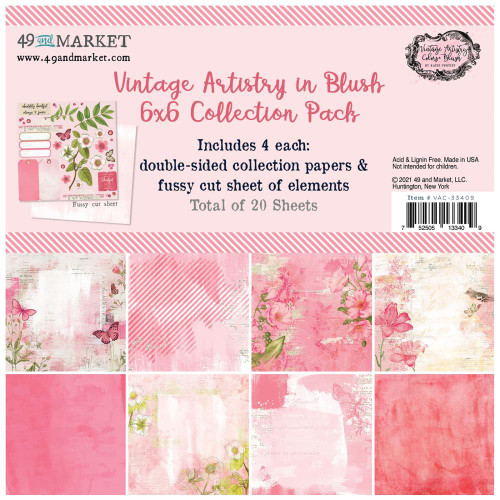 49 and Market Vintage Artistry 6x6 Paper Pad: Blush