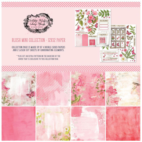49 and Market Vintage Artistry 12x12 Collection Pack: Blush