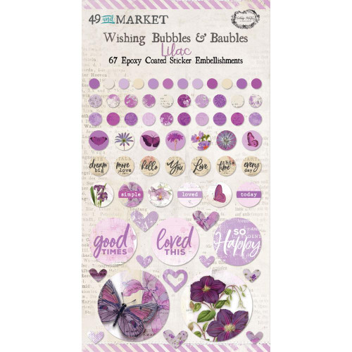 49 and Market Vintage Artistry Wishing Bubbles & Baubles: Lilac